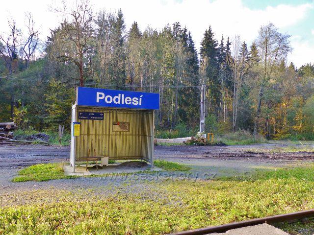 Malá Morava - současná železniční zastávka ČD Podlesí