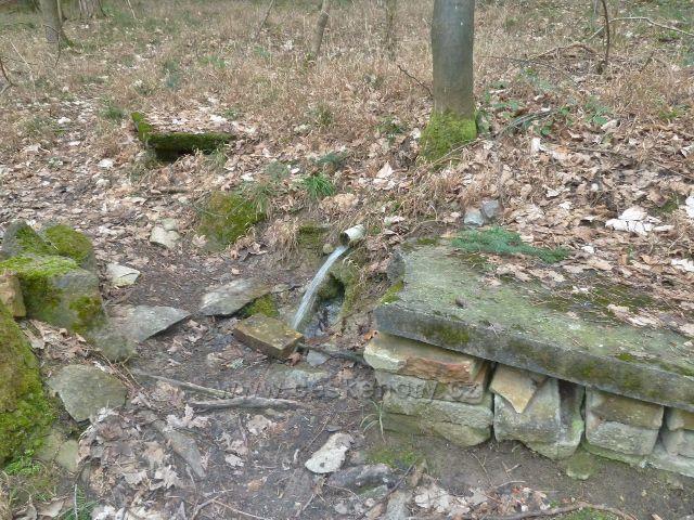 Les Včelný - původní Studánka nad níž stála kaplička, ze které zbyly už jen rozvaliny