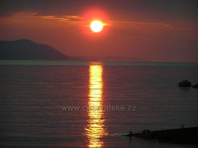 západ slnka v Zaostrogu