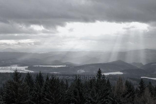 Výhled z Tanečnice (rozhledna)