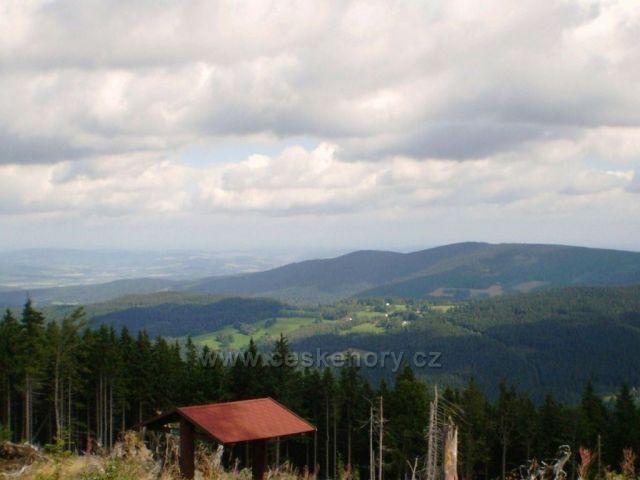 Výhled ze Špičáku na Šumavě
