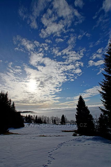 pohled z Čimického vrchu