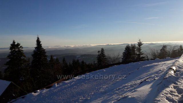 Pohled na Slovensko z Lyse hory