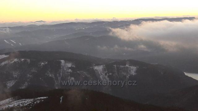 Pohled z Lyse na Slovensko