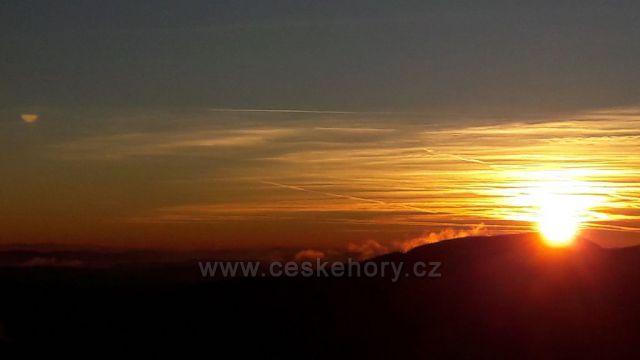 Zapad slunce na Lyse hore