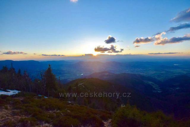 Zapad slunce Lysa hora
