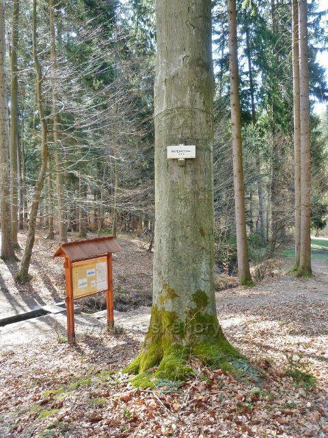 Dolní Dobrouč - turistické označení areálu Vápenky