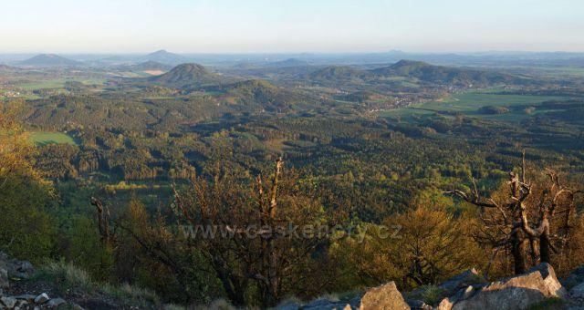 Výhled z hory Klíč před západem slunce 1
