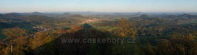 Výhled z hory Klíč před západem slunce 2