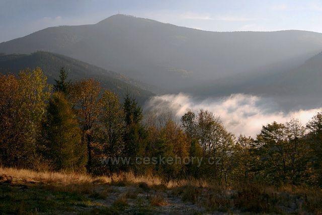 mlha pod Lysou od Šance