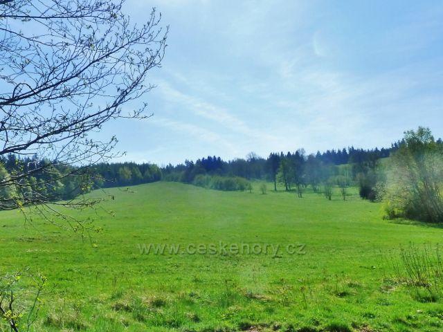 Šanov - pastviny nad obcí