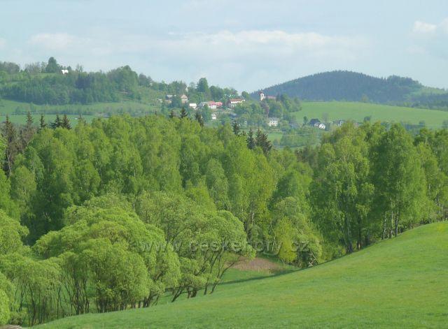 Podlesí - pohled na Vojtíškov pod Sviní horou