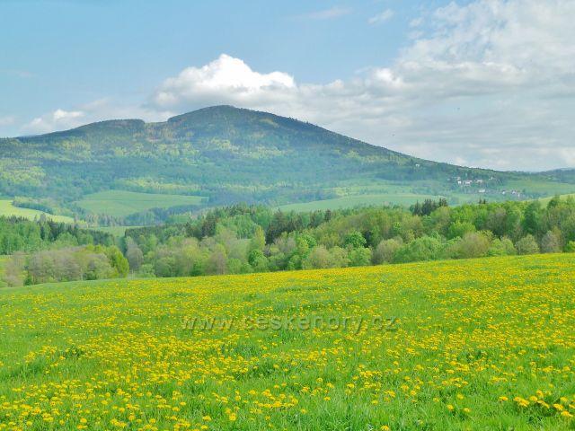 Podlesí - pohled na Sviní horu nad Vojtíškovem