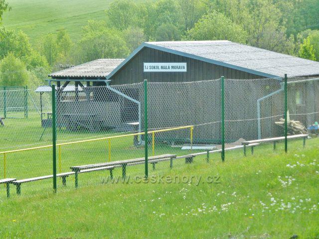 Podlesí - podhorský stadion TJ Sokol Malá Morava