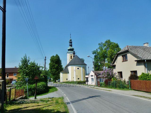 Nový Malín - kostel Nanebevzetí Panny Marie
