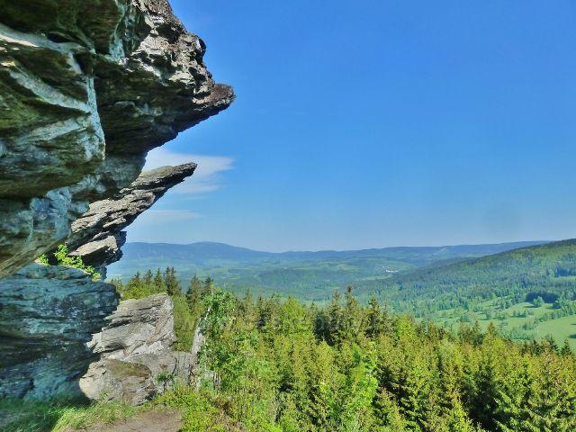 Pohled z výhledového místa Tři kameny