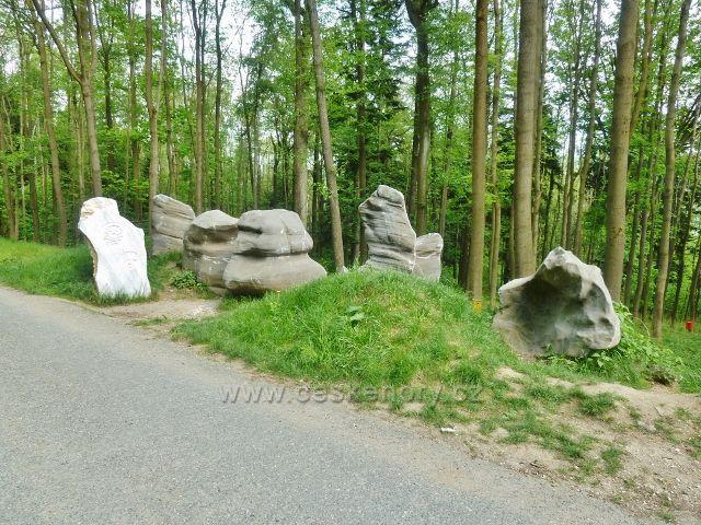 Lázně Jeseník - nové prvky pod Slovanským pramenem