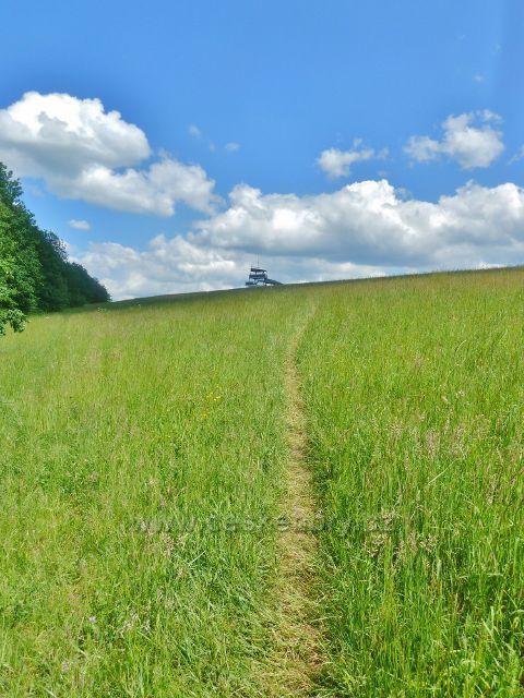 """Bludov - pěšina po svahu vrchu Brusná(364 m.n.m.) k rozhledně """"Brusinka"""""""