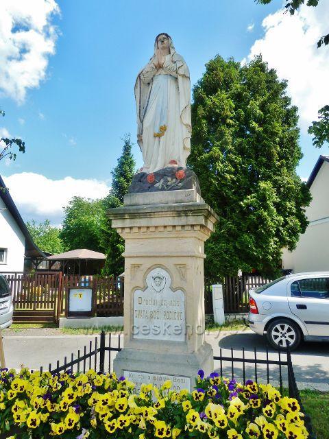 Bludov - socha Panny Marie Lurdské