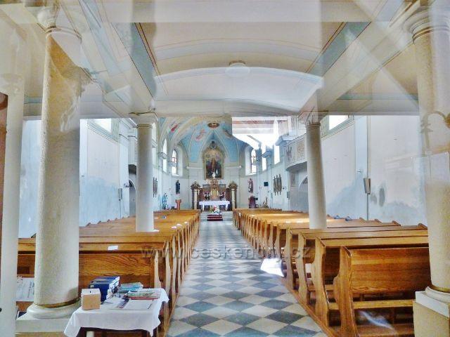 Bludov - interiér kostela svatého Jiří