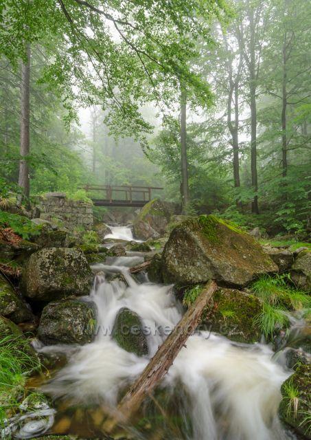 Mlžné vody Hájeného potoka.