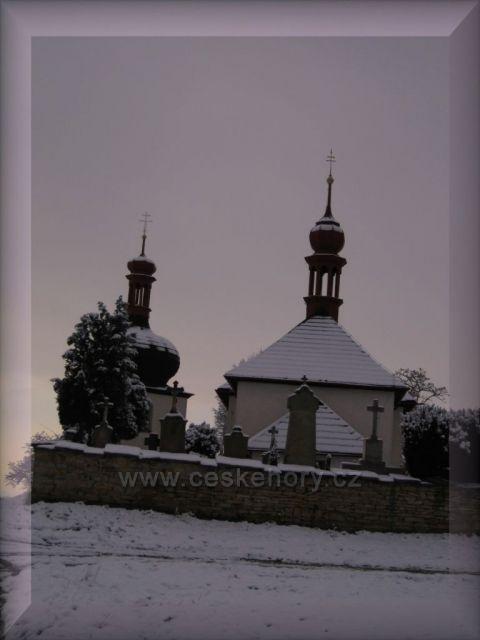první sníh v Dobrušce