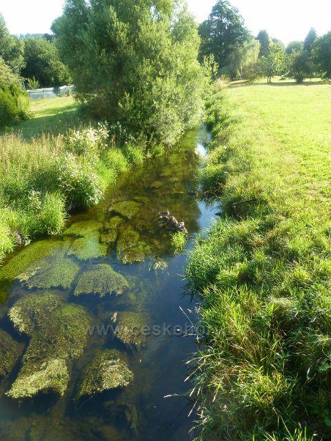 Lichkov - klidný a plynulý tok Tiché Orlice
