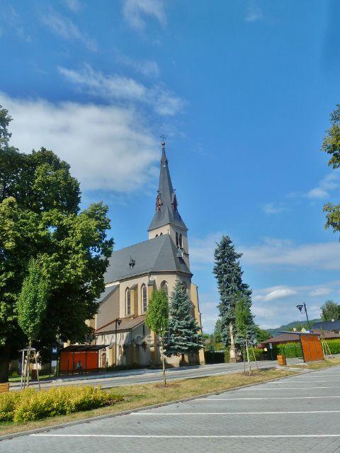 Rapotin - novogotický kostel  Nanebevzetí Panny Marie