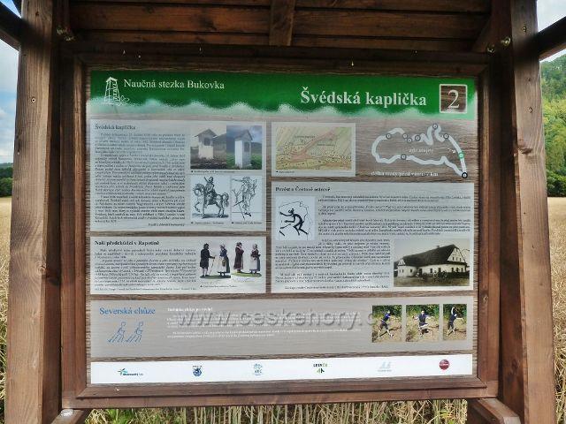 Rapotín - panel 2.zastavení NS Bukovka, Švédská kaplička
