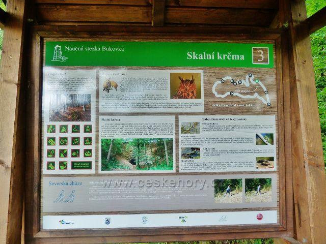 Rapotín - panel 3.zastavení NS Bukovka, Skalní krčma
