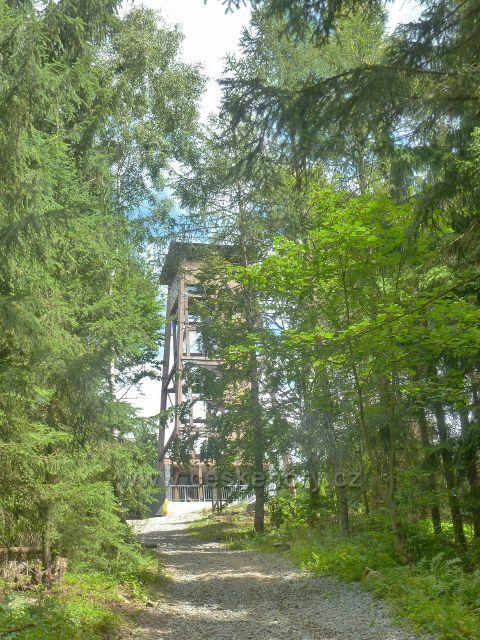 Rapotín - Bukovka, rozhledna Bukovka na konci cesty po žluté TZ