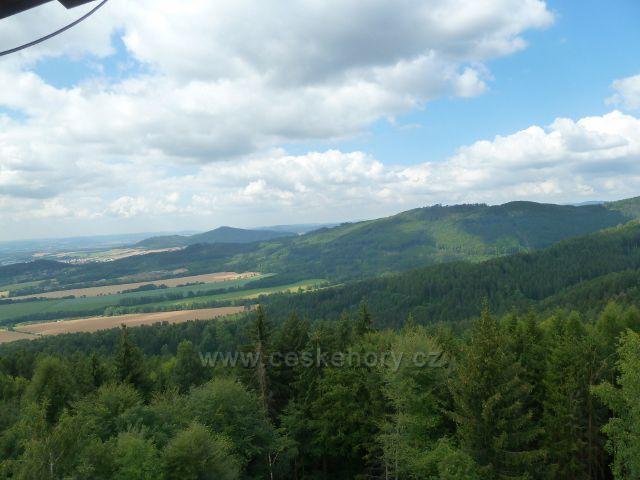 Rapotín - pohled z rozhledny Bukovka k Šumperku