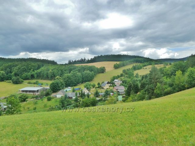 Bohdíkov - horní konec obce Komňátka