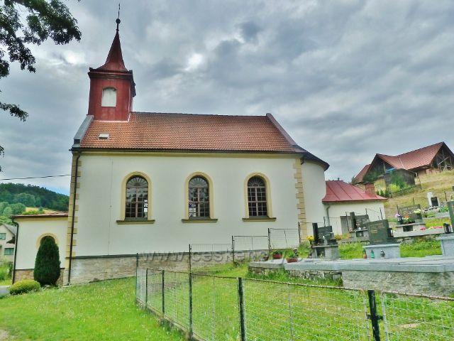 Komňátka - kaple sv.Jana a Pavla z roku 1893 u hřbitova