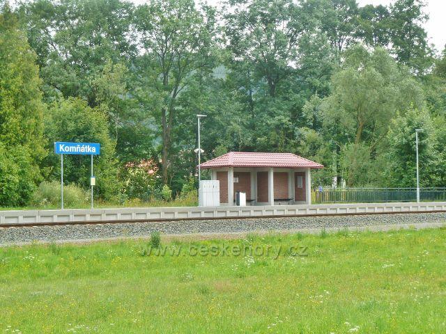 Železniční stanice Komňátka na trati Hanušovice - Šumperk