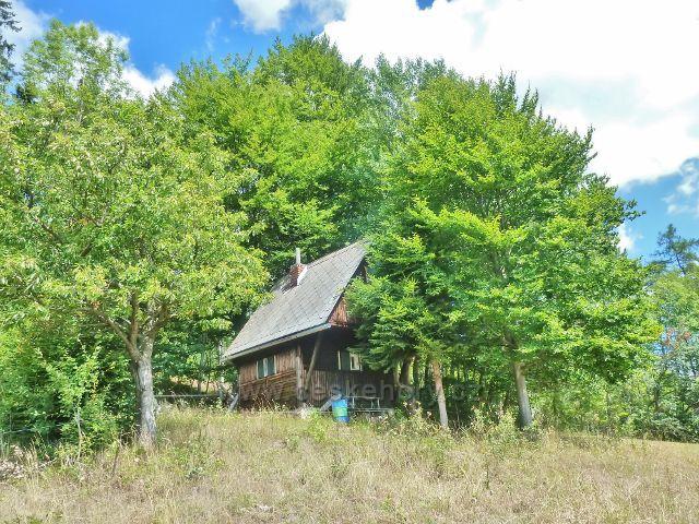 Štědrákova Lhota - chatka na okraji lesa nad obcí