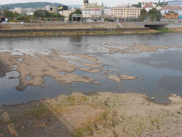 Vyschlé Labe v Ústí nad Labem