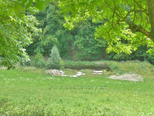 Štědrákova Lhota - jeden z rybníčků na Hostickém potoce