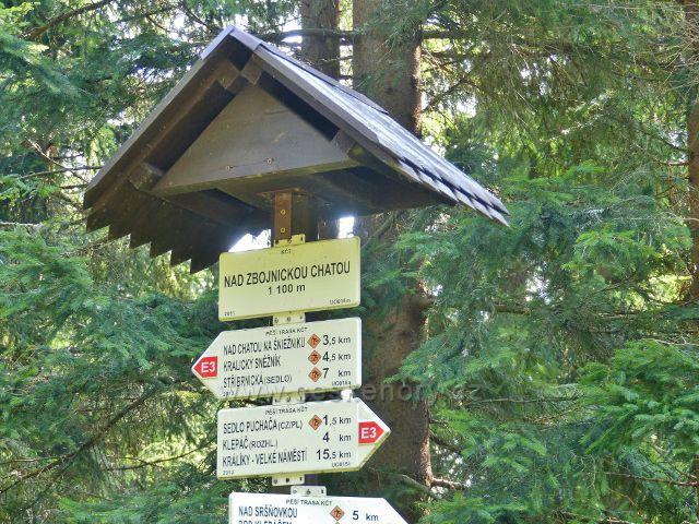 """Dolní Morava - turistický rozcestník nad Zbojnickou chatou,1100 m.n.m."""""""