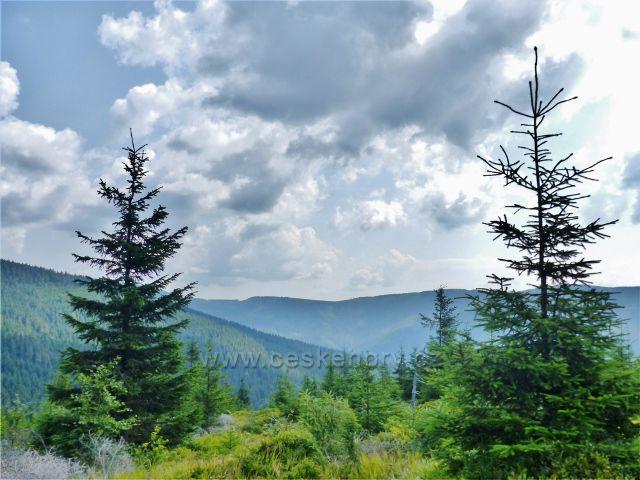 Dolní Morava - pohled z vrcholu Hleďsebe k Sušině