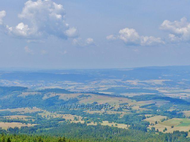 Dolní Morava - pohled z rozhledny Klepáč do polské nížiny