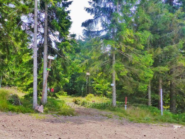 Dolní Morava - sedlo pod Jelením vrchem. Zde býval turistický přechod do Polska.