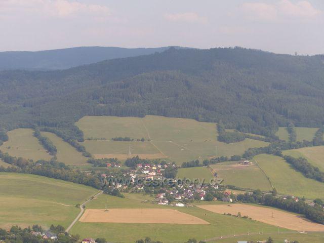 Rapotín - pohled z Bukovky  na Petrov nad Desnou