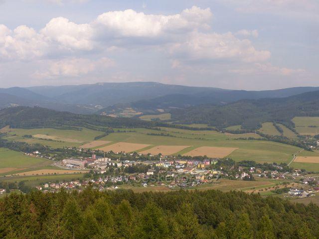 Rapotín - pohled z Bukovky na Rapotín