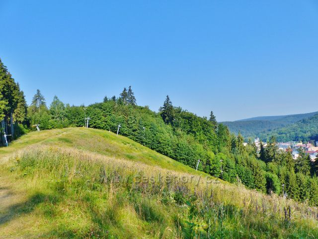 Mariánské Lázně - vrch Slalomák, skiareál Mariánky