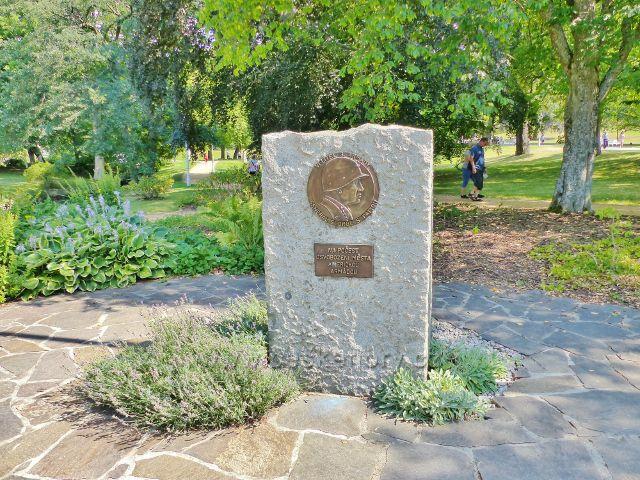 Mariánské Lázně - Pattonův pomník osvobození města Americkou armádou