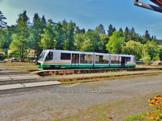 Bečov nad Teplou - souprava GW TRAIN na nádraží ČD