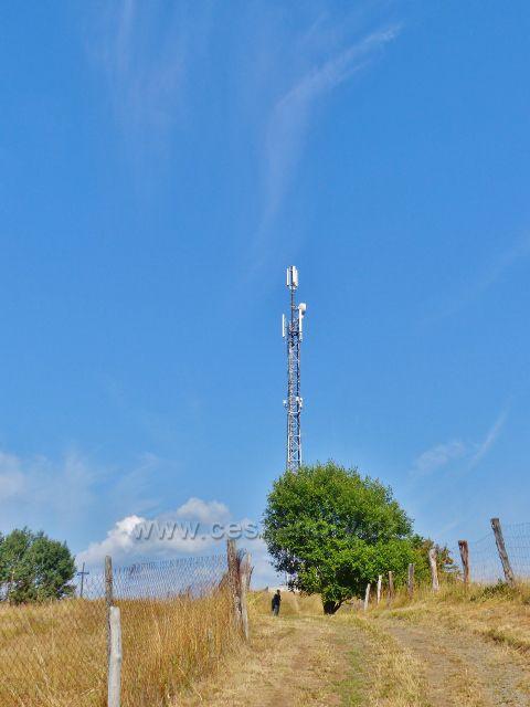 Bečov nad Teplou - cesta k Vyhlídce, telekomunikační věž