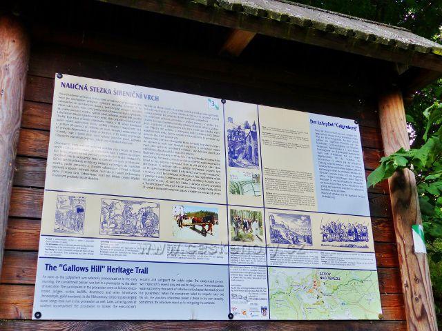 Bečov  nad Tepou - tabule 3.zastavení NS Šibeniční vrch
