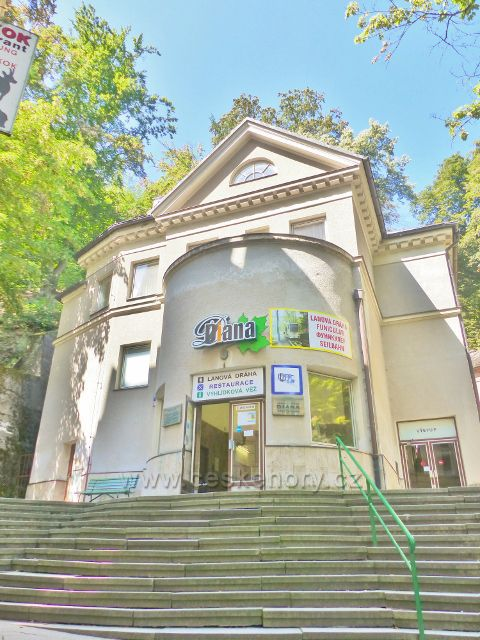 Karlovy Vary - dolní stanice lanové dráhy na Výšinu Přátelství Stará louka